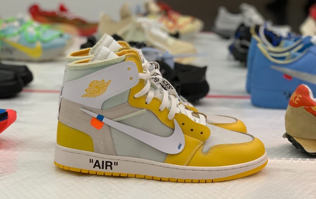 Off-White x Air Jordan 1 'Canary Yellow' (Display)