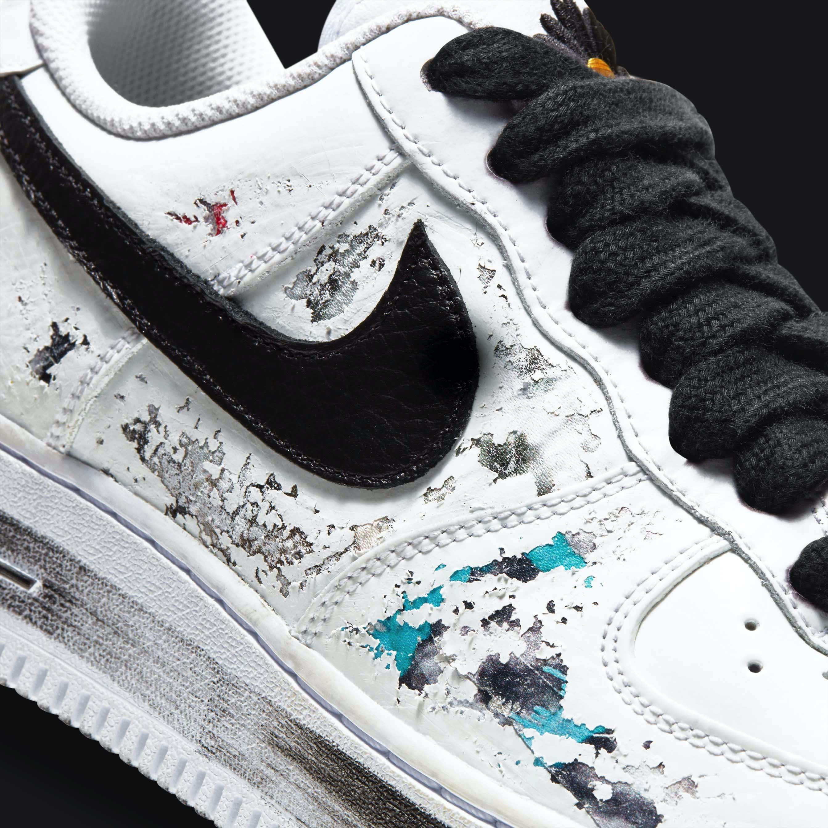 G-Dragon x Nike Air Force 1 Para-Noise Release Date DD3223-100 Swoosh