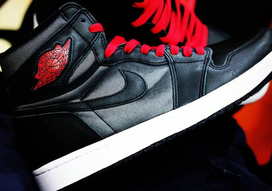 Air Jordan 1 Satin Black Red Release Date