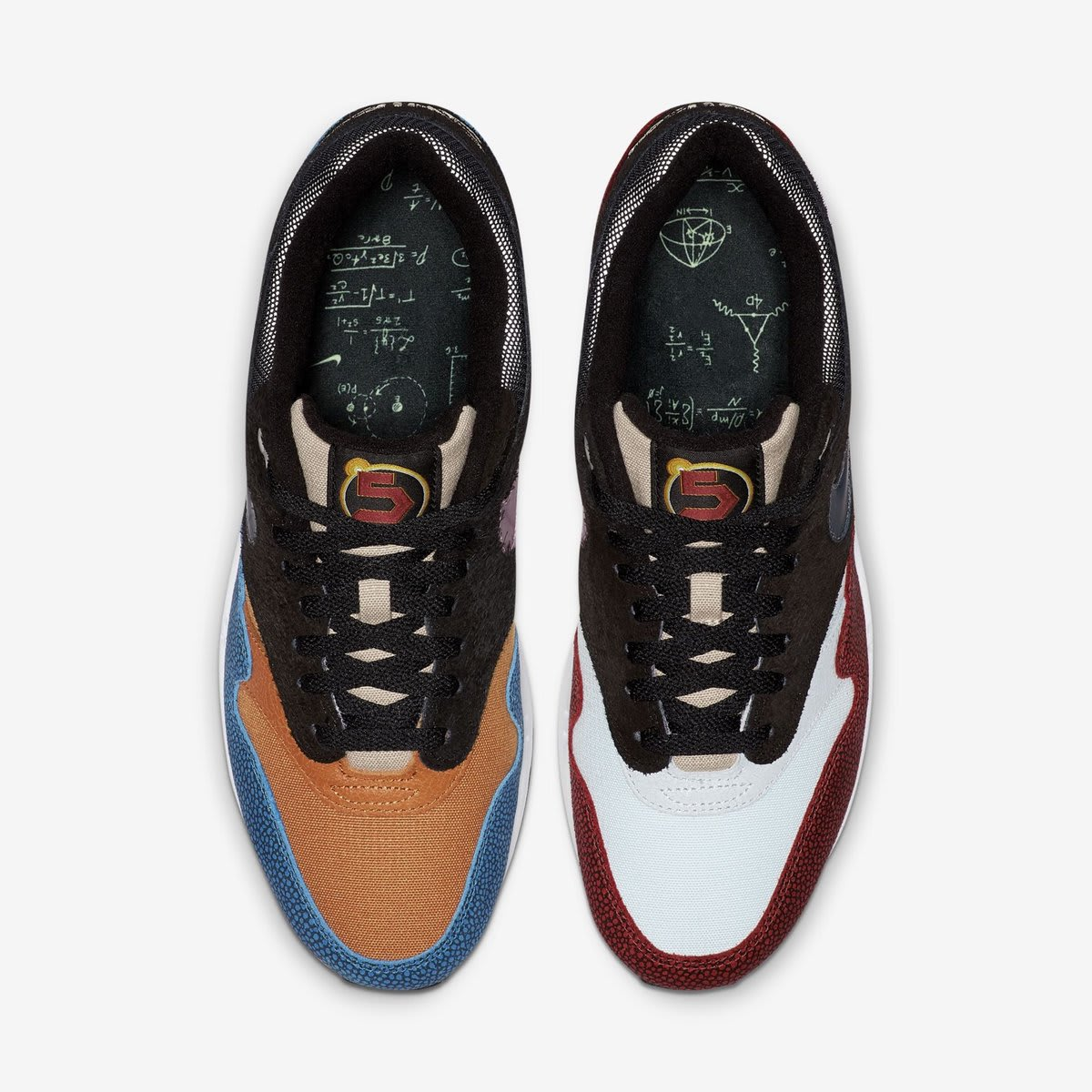 hot sale online a7a4c cb936 Image via  J23app · De Aaron Fox x Nike Air Max 1  Swipa  (Top)