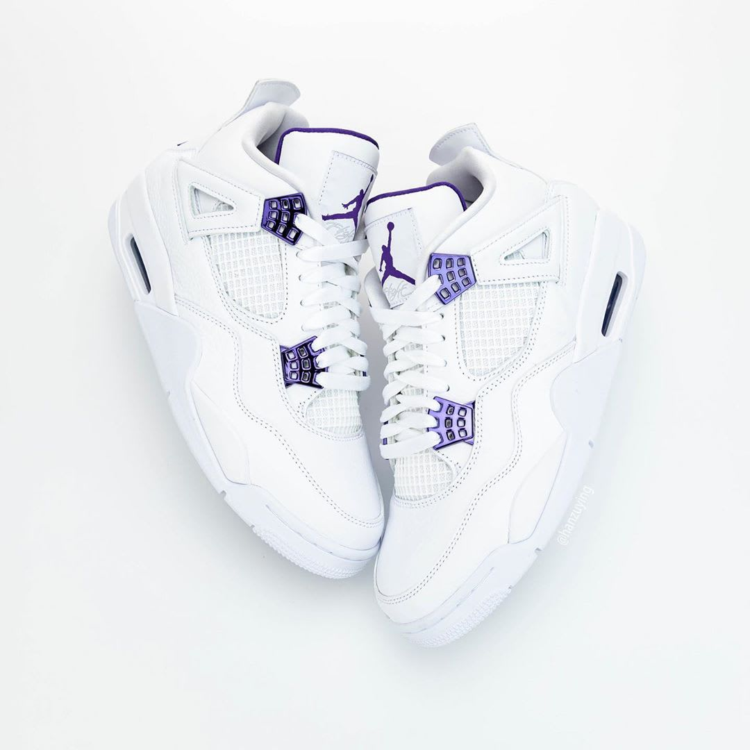 Air Jordan 4 Court Purple Release Date CT8527-115 Lateral