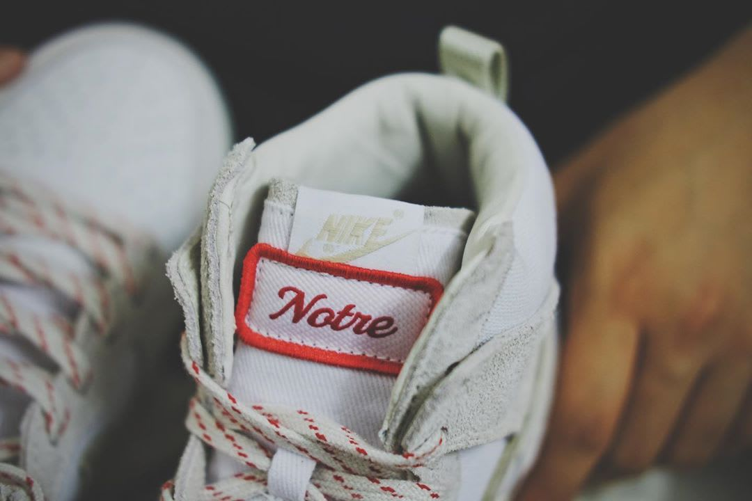 Notre x Nike Dunk High White/Red Tongue