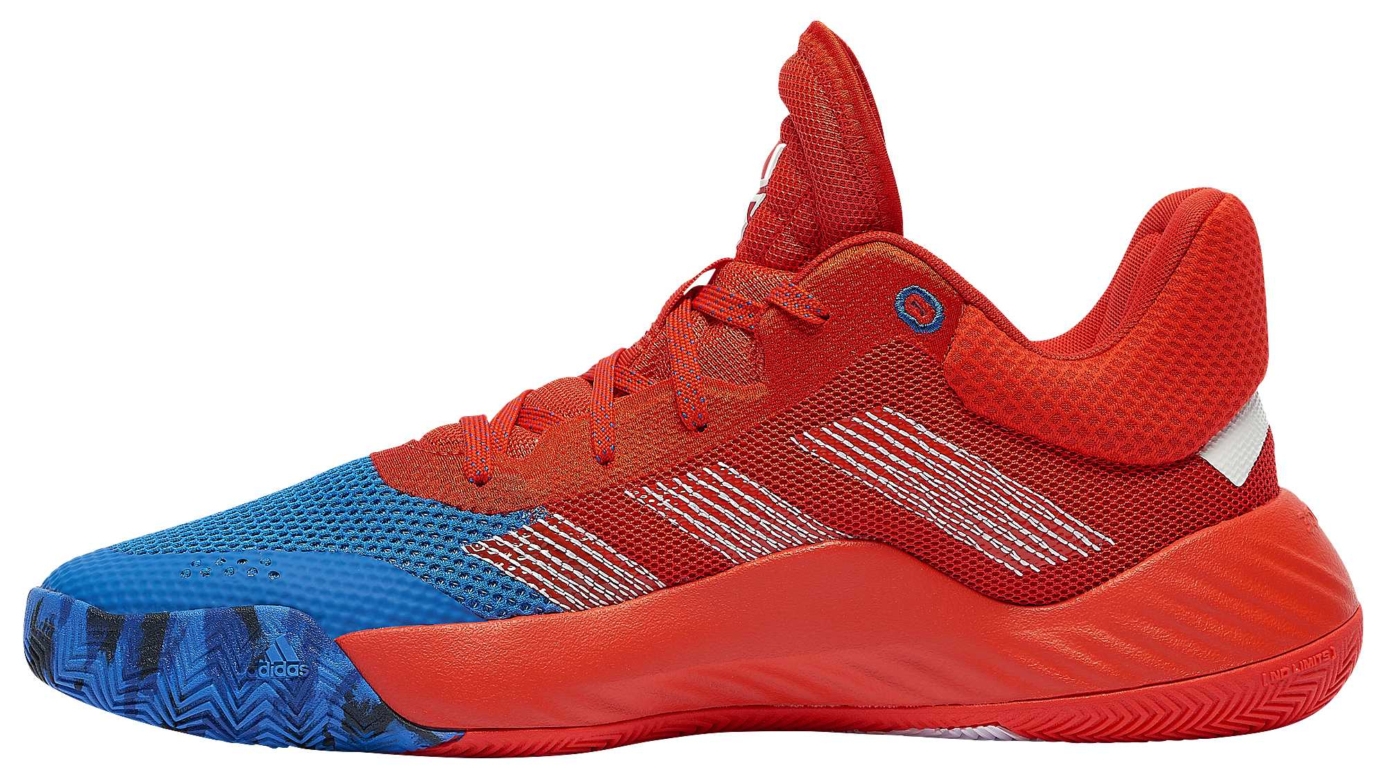 Adidas D.O.N. Issue 1 Blue Red White Release Date EF2400 Medial