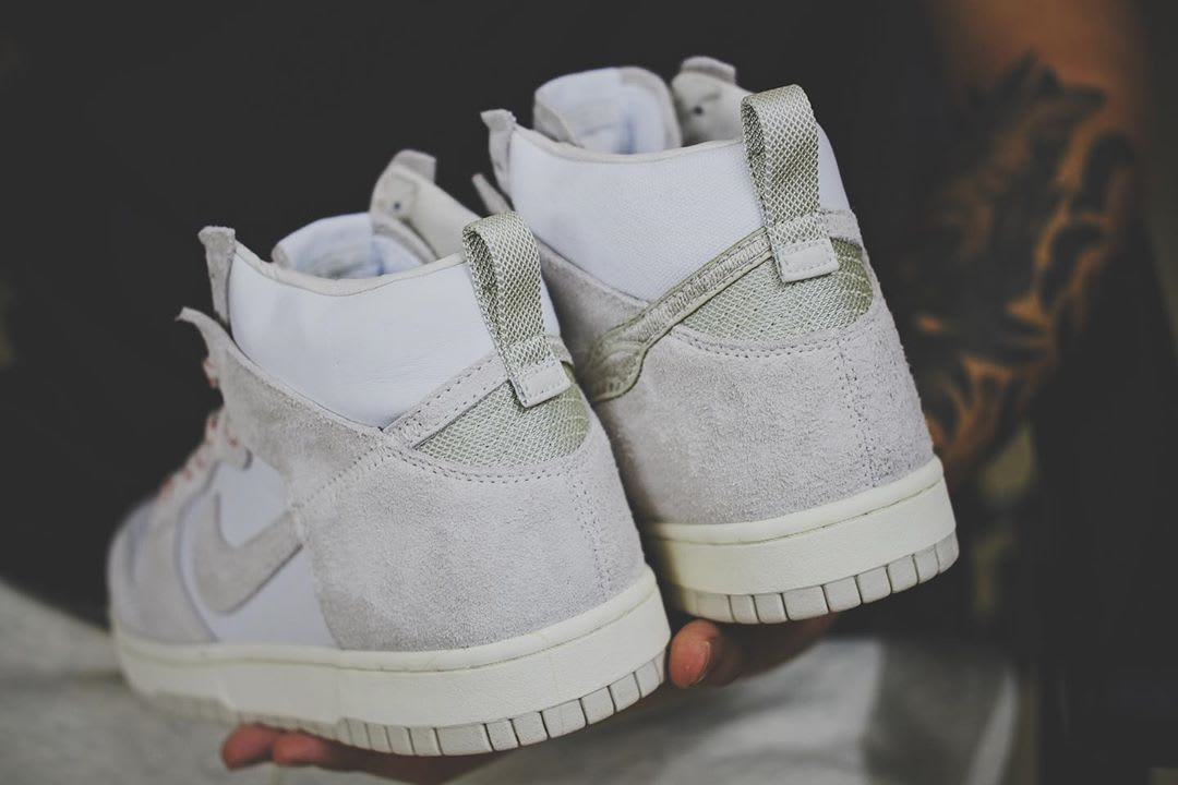 Notre x Nike Dunk High White/Red Heel
