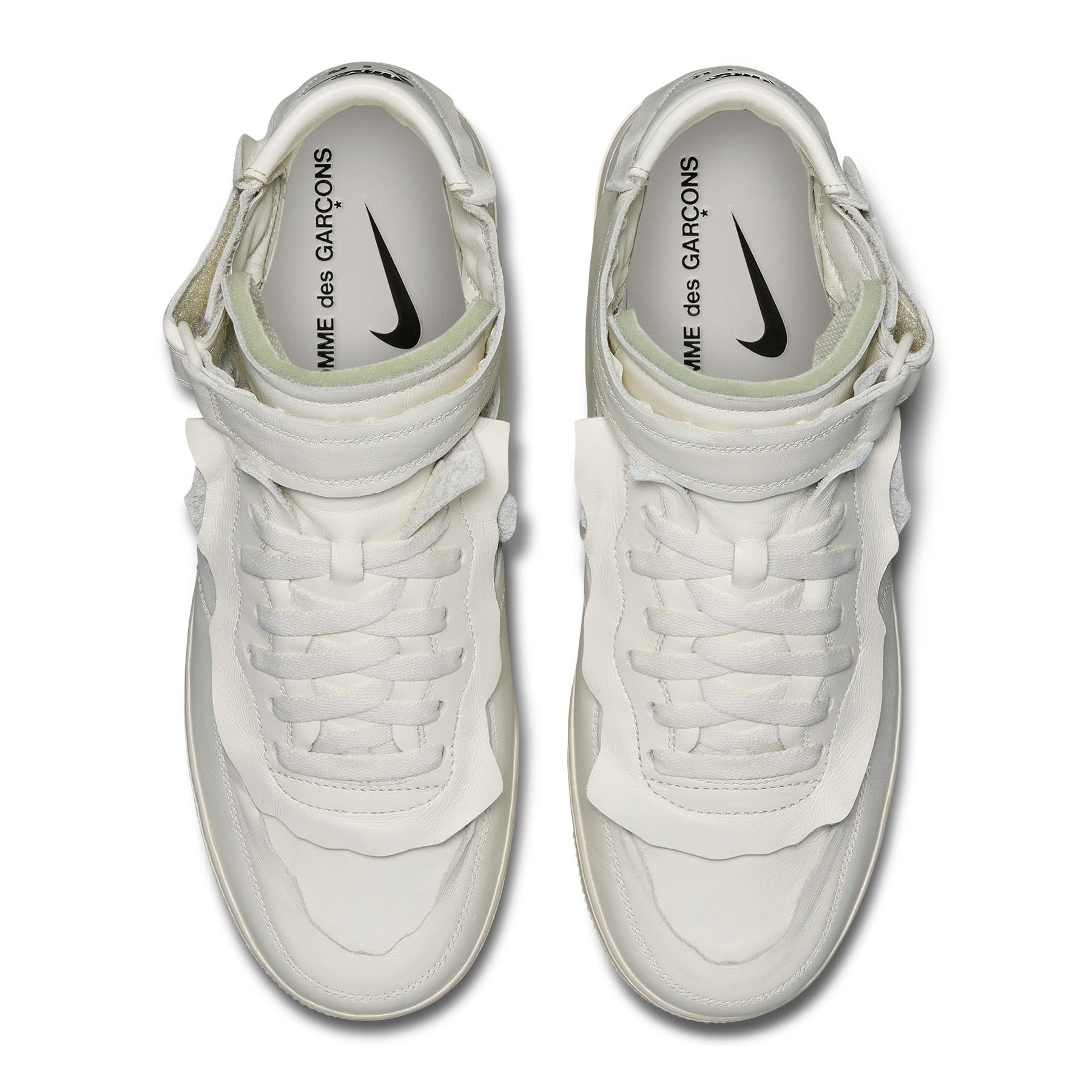 Comme Des Garcons x Nike Air Force 1 Mid 'White' F/W 20 Top