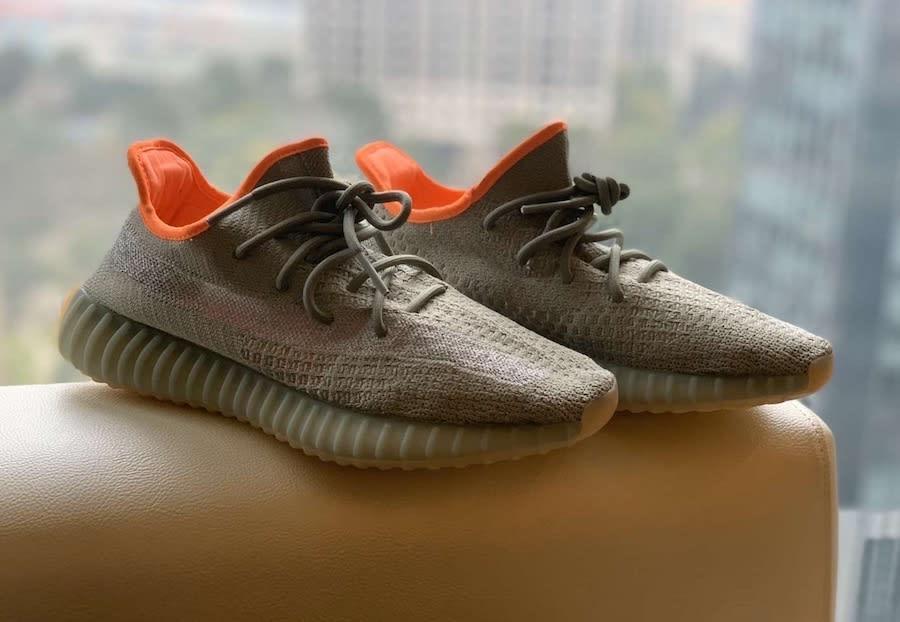 Adidas yeezy 350 V2 desert sage release date fx9035 non reflective