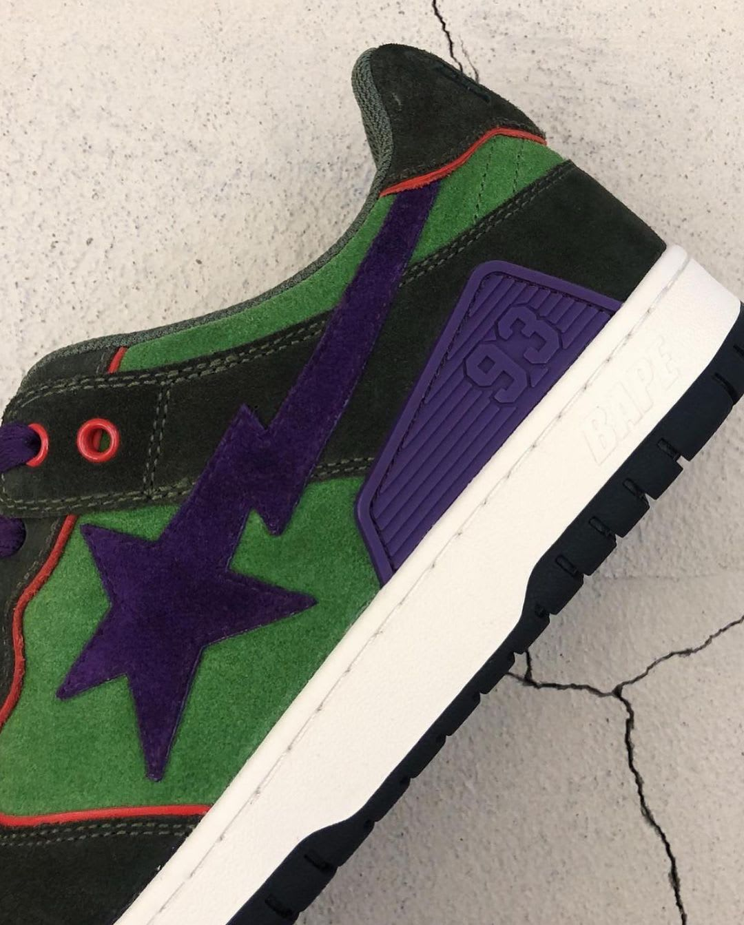 Bape Sk8 Sta Green/Red/Purple First Look Side