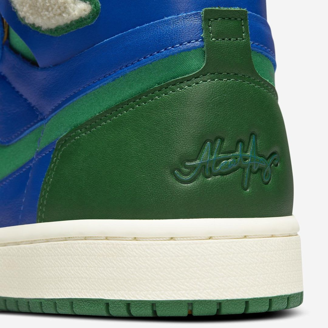 Aleali May x Air Jordan 1 Zoom CMFT Release Date Heel Detail