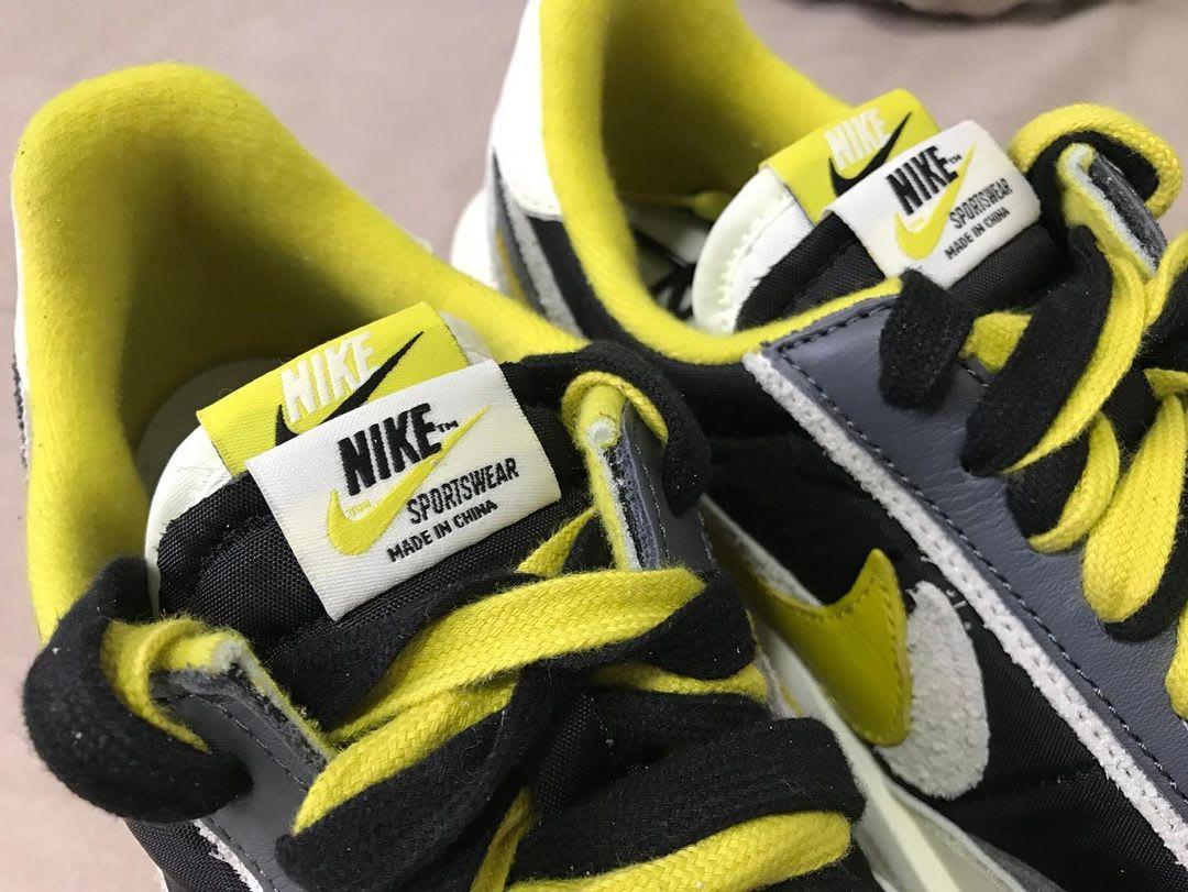 Undercover x Sacai x Nike LDWaffle 'Bright Citron' DJ4877-001 (Tongue)