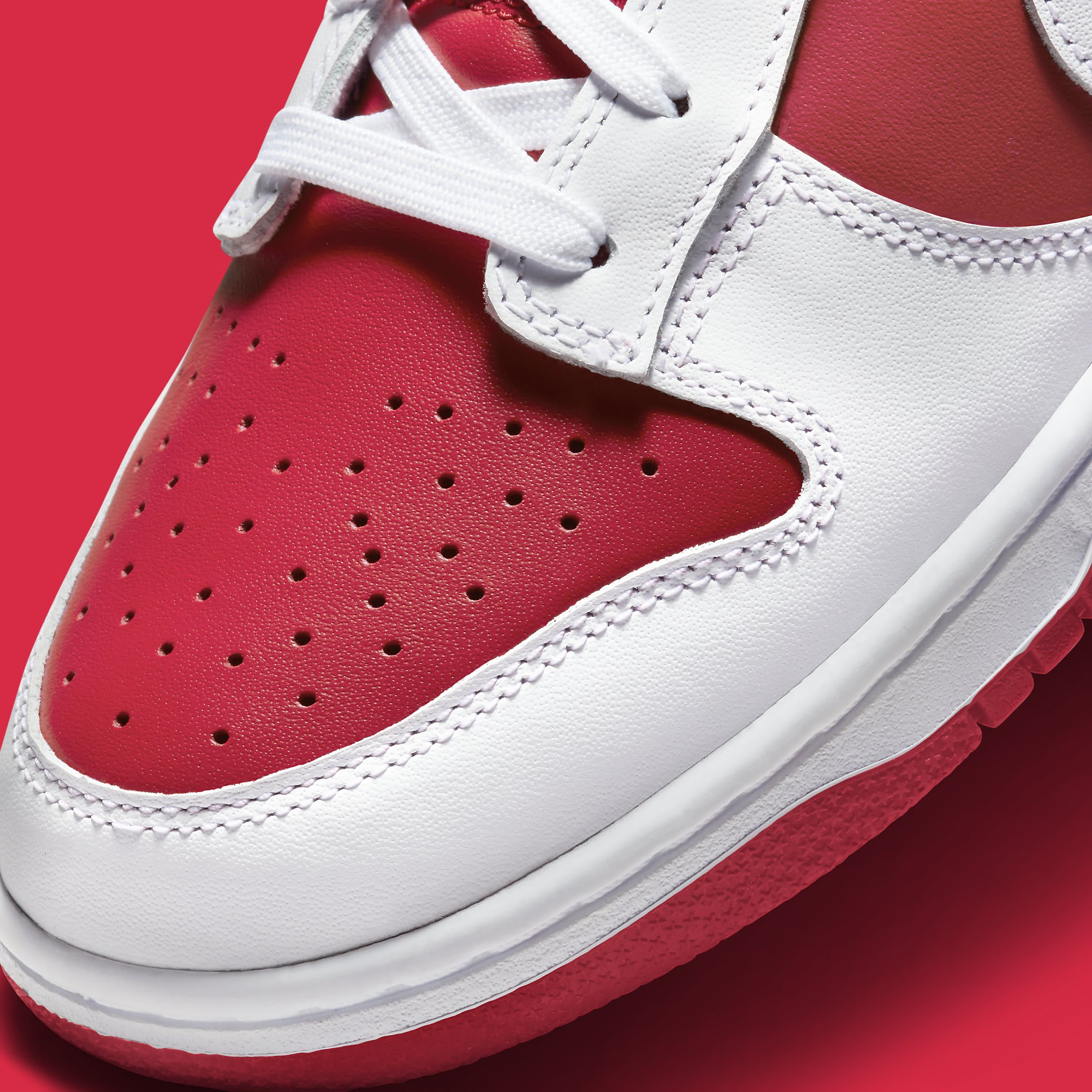 Nike Dunk Low Championship Red DD1391-600 Release Date Toe Detail