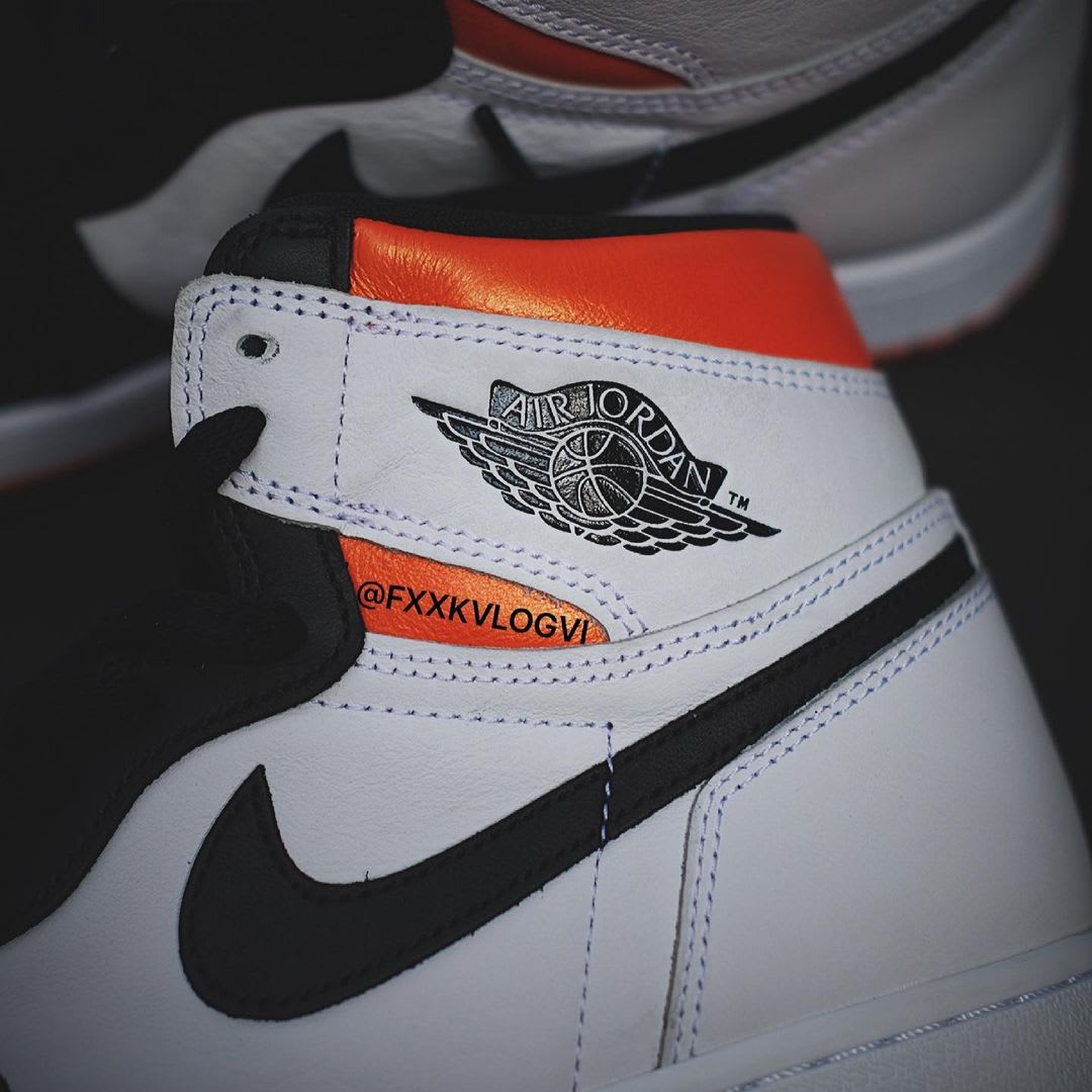 Air Jordan 1 Retro High OG 'Electro Orange' 555088-180 Collar