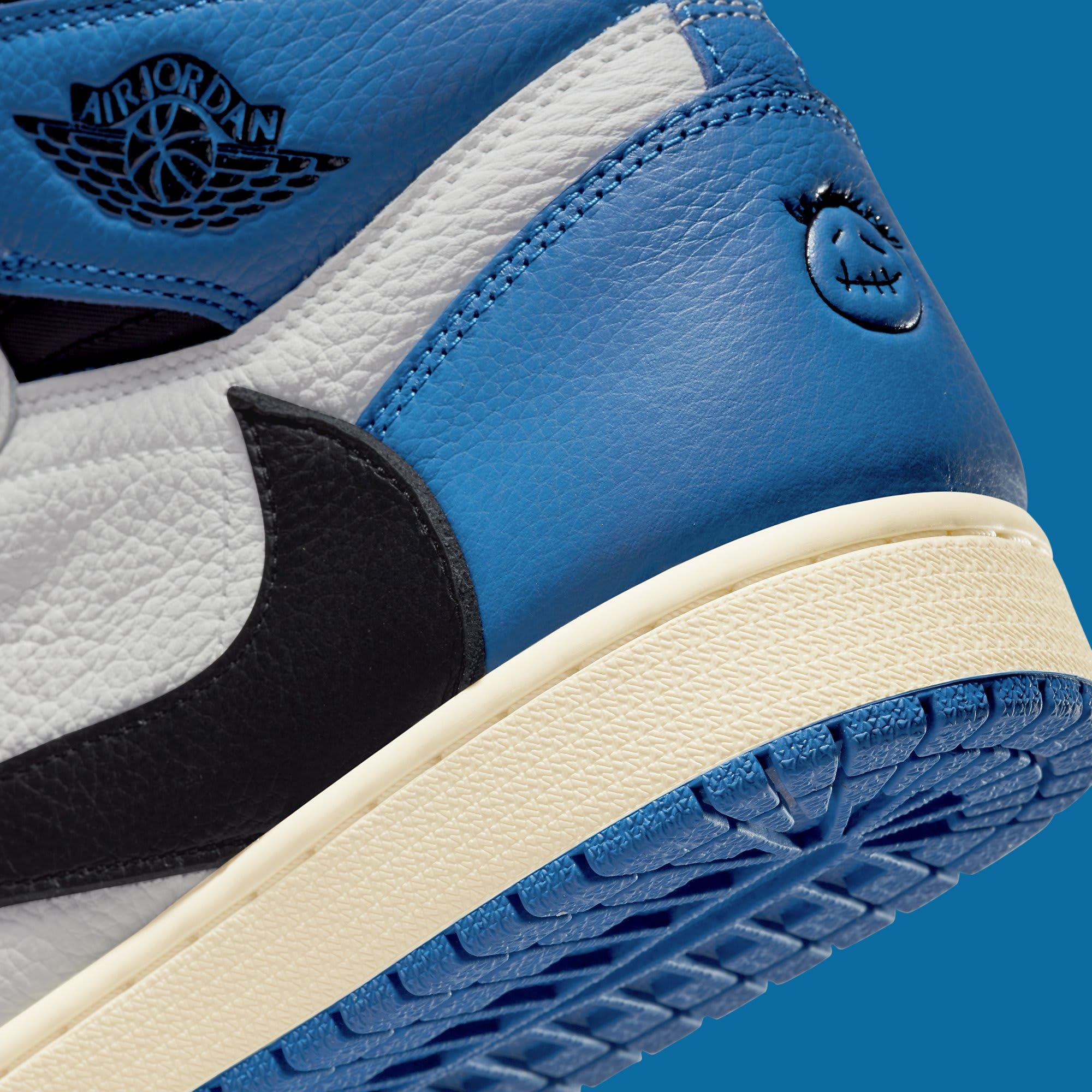 Fragment x Travis Scott x Air Jordan 1 High DH3227-105 Heel