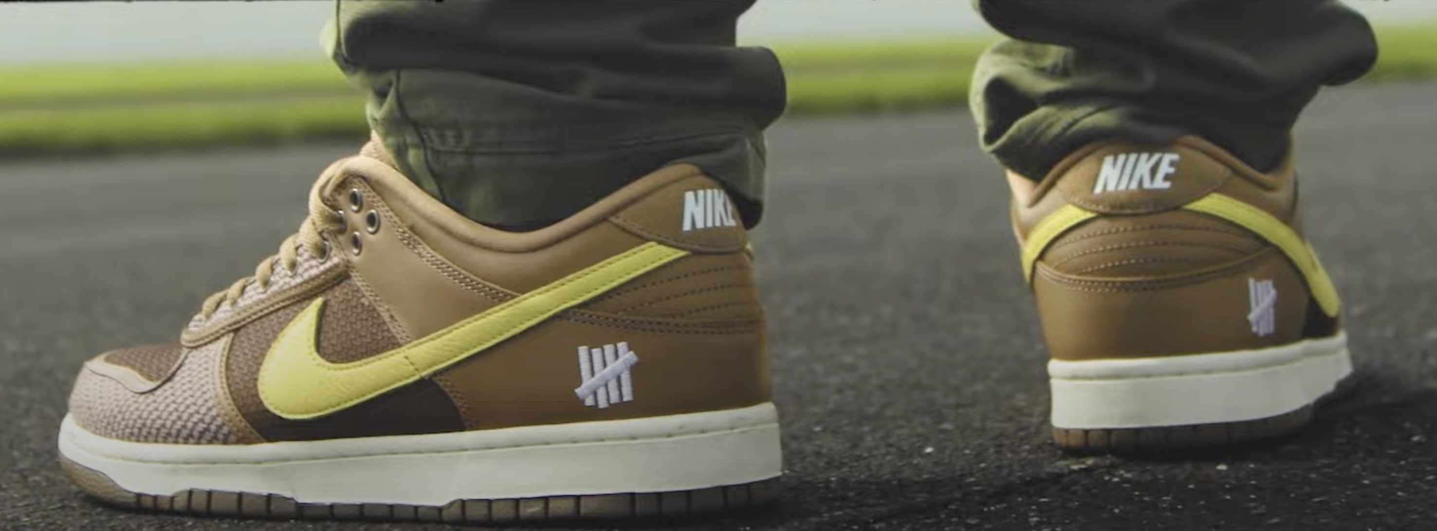 Undefeated x Nike Dunk Low Heel