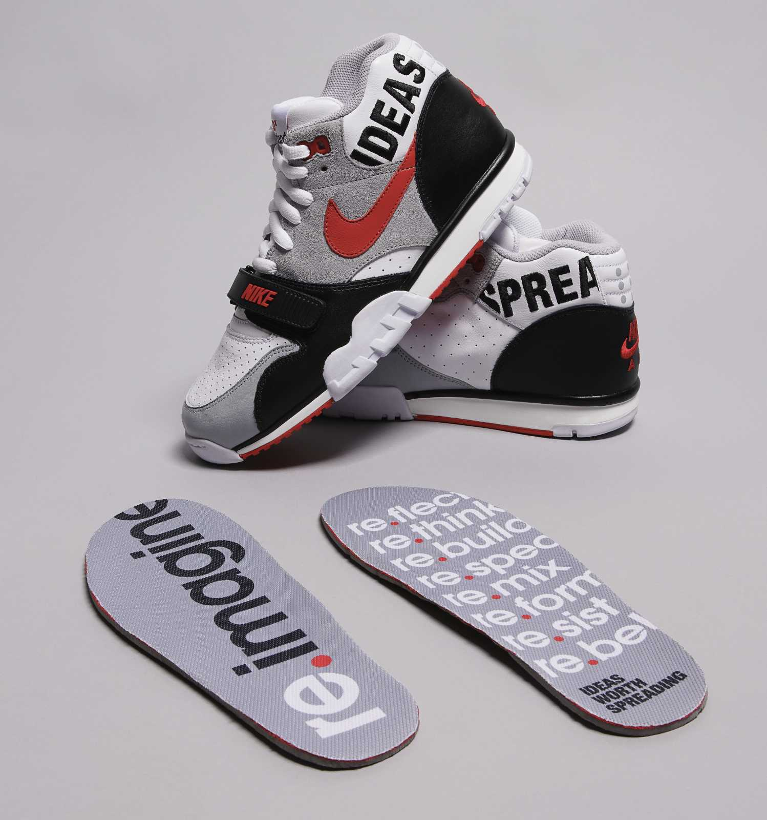 TEDxPortland x Nike Air Trainer 1 Auction Insoles