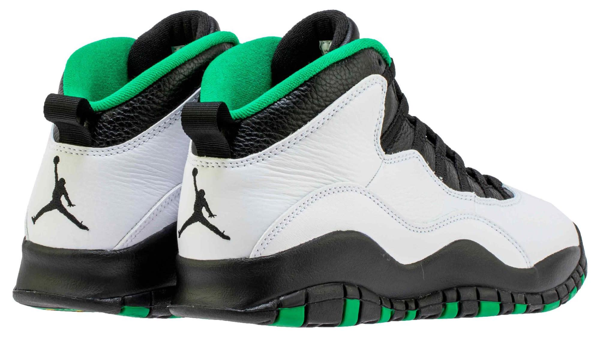 Air Jordan 10 Seattle Release Date 310805-137 Heel
