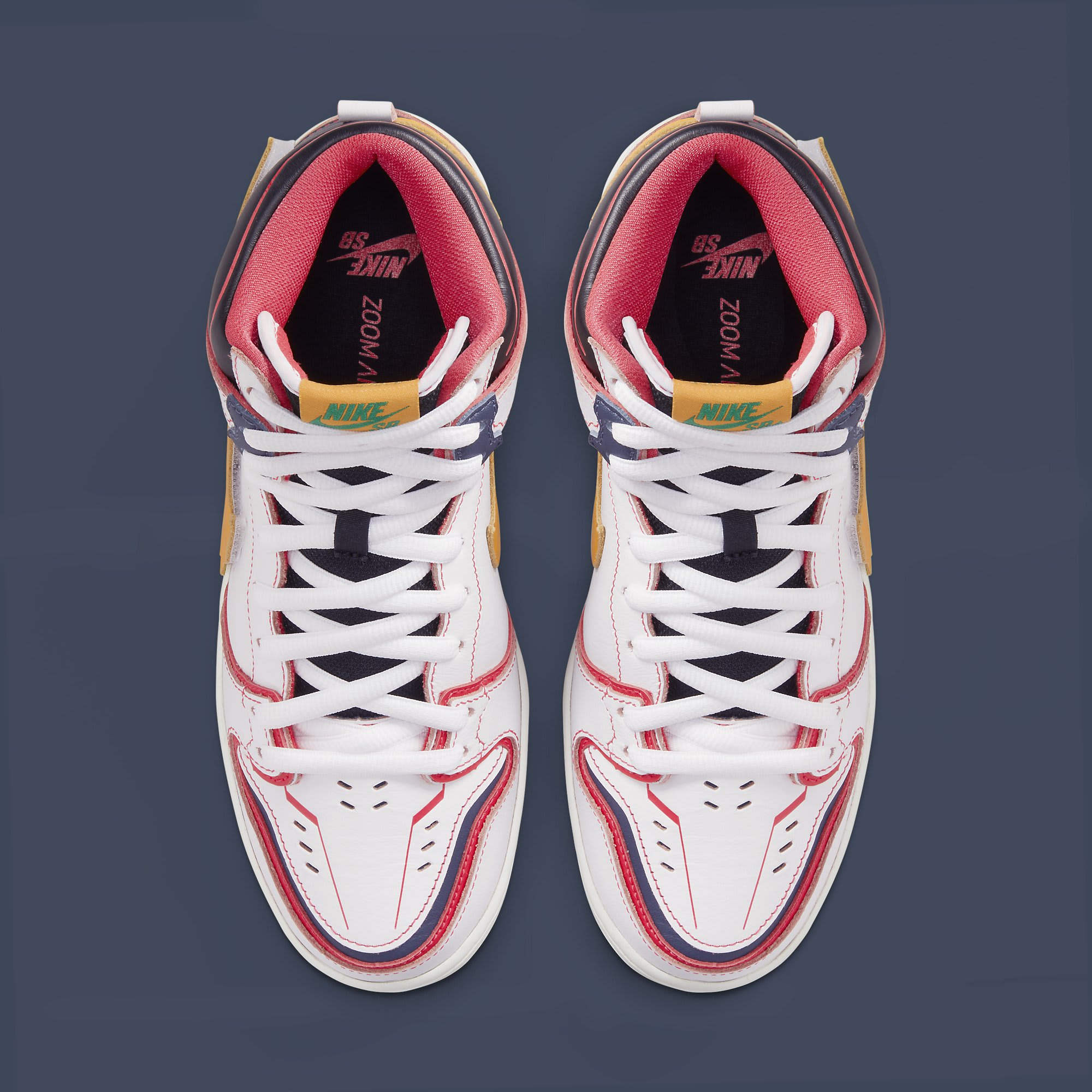 Nike SB Dunk High Gundam White Release Date DH7717-100 Top