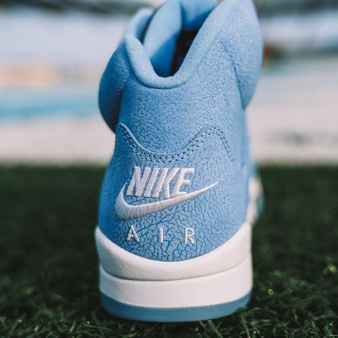 Air Jordan 5 PE 'Carolina Blue' Heel