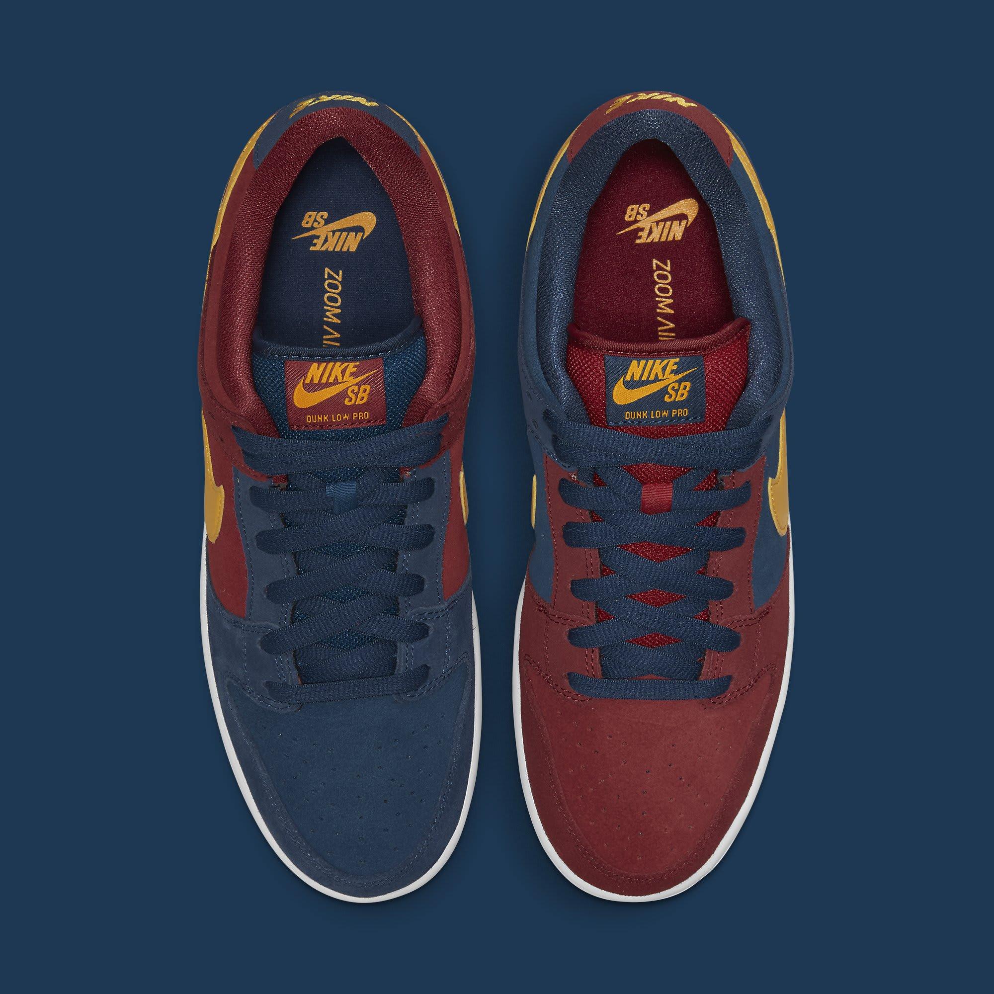Nike SB Dunk Low Barcelona Release Date DJ0606-400 Top