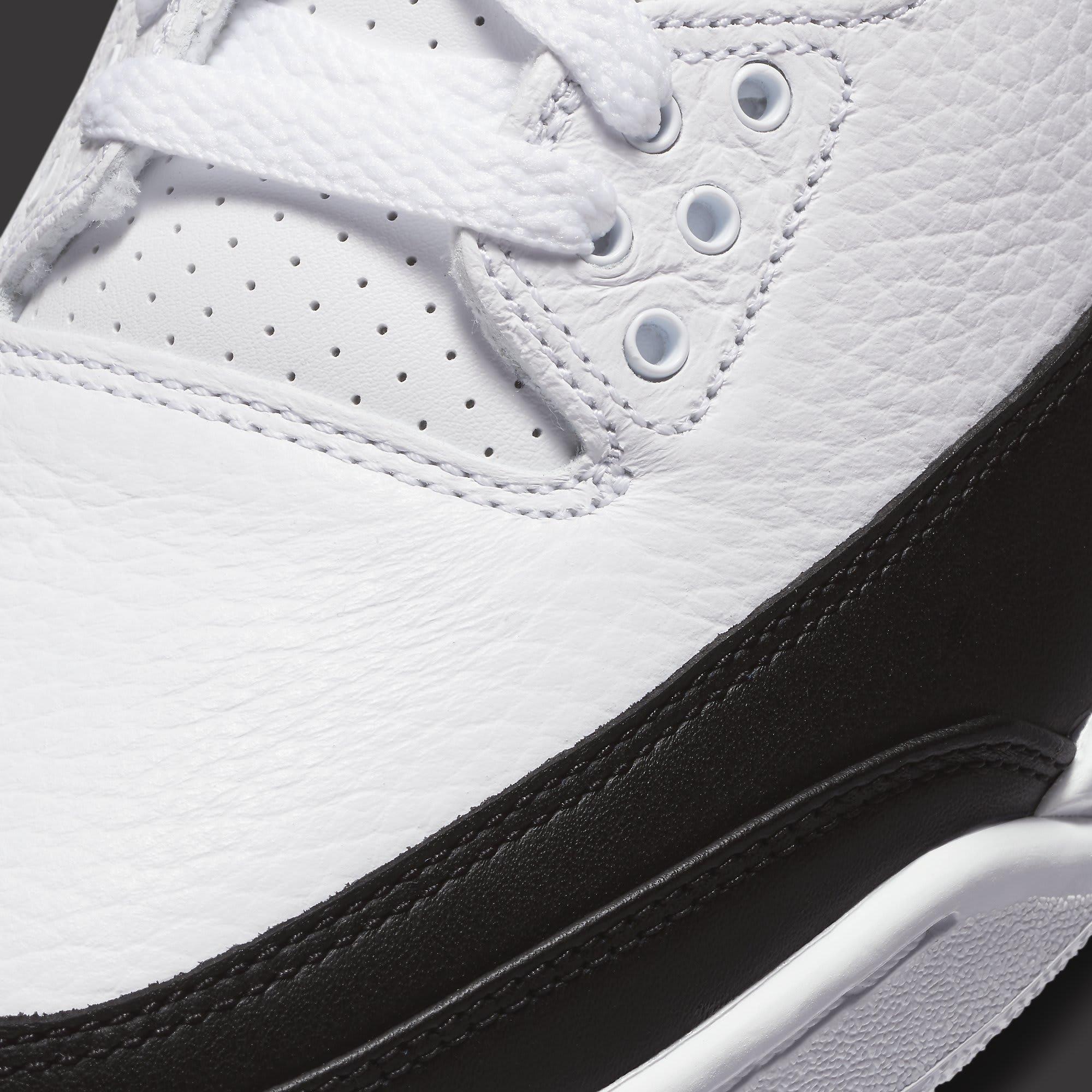 Fragment x Air Jordan 3 Release Date DA3595-100 Toe Detail