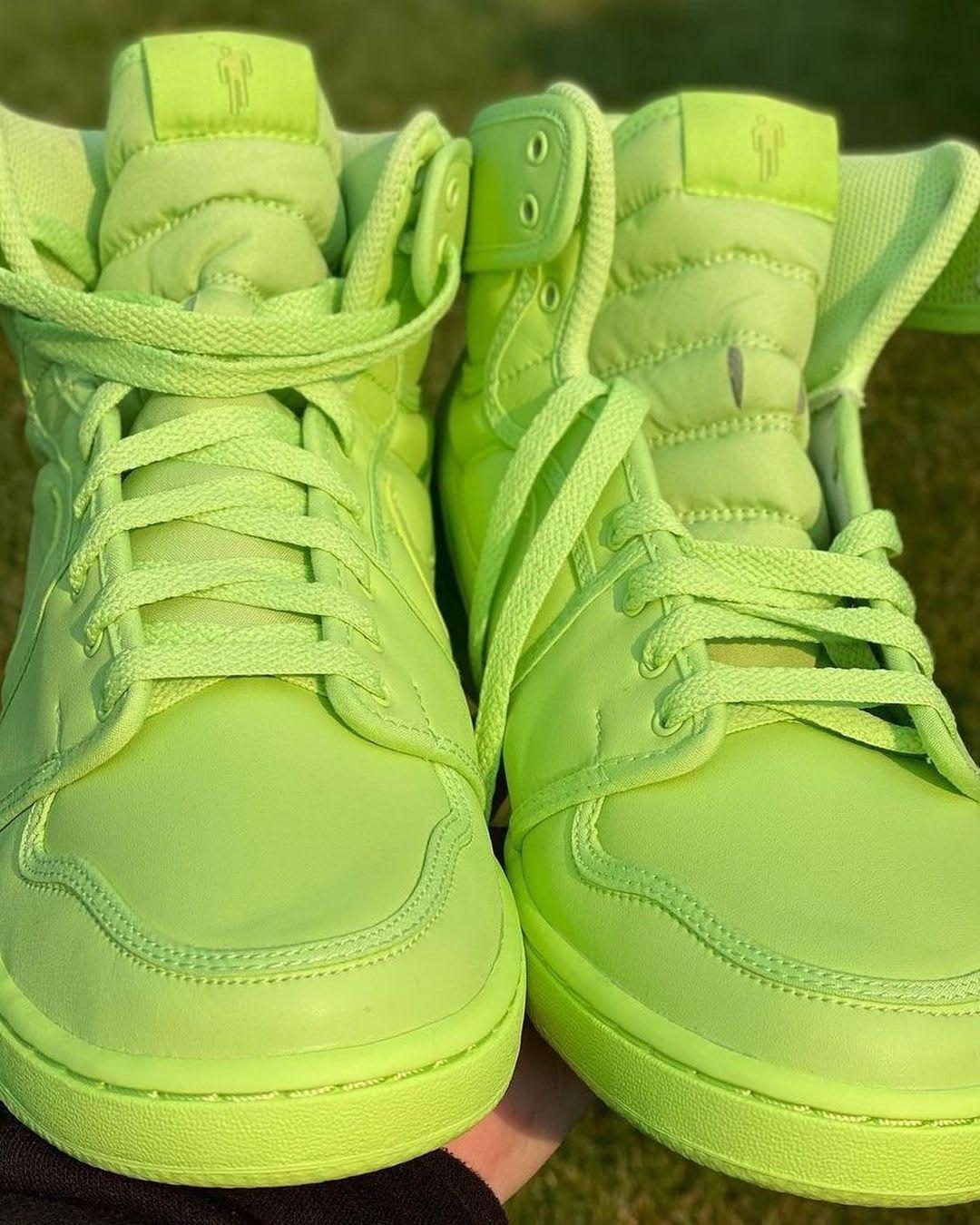Billie Eilish x Air Jordan 1 KO 'Ghost Green' DN2857-330 (Pair Front)