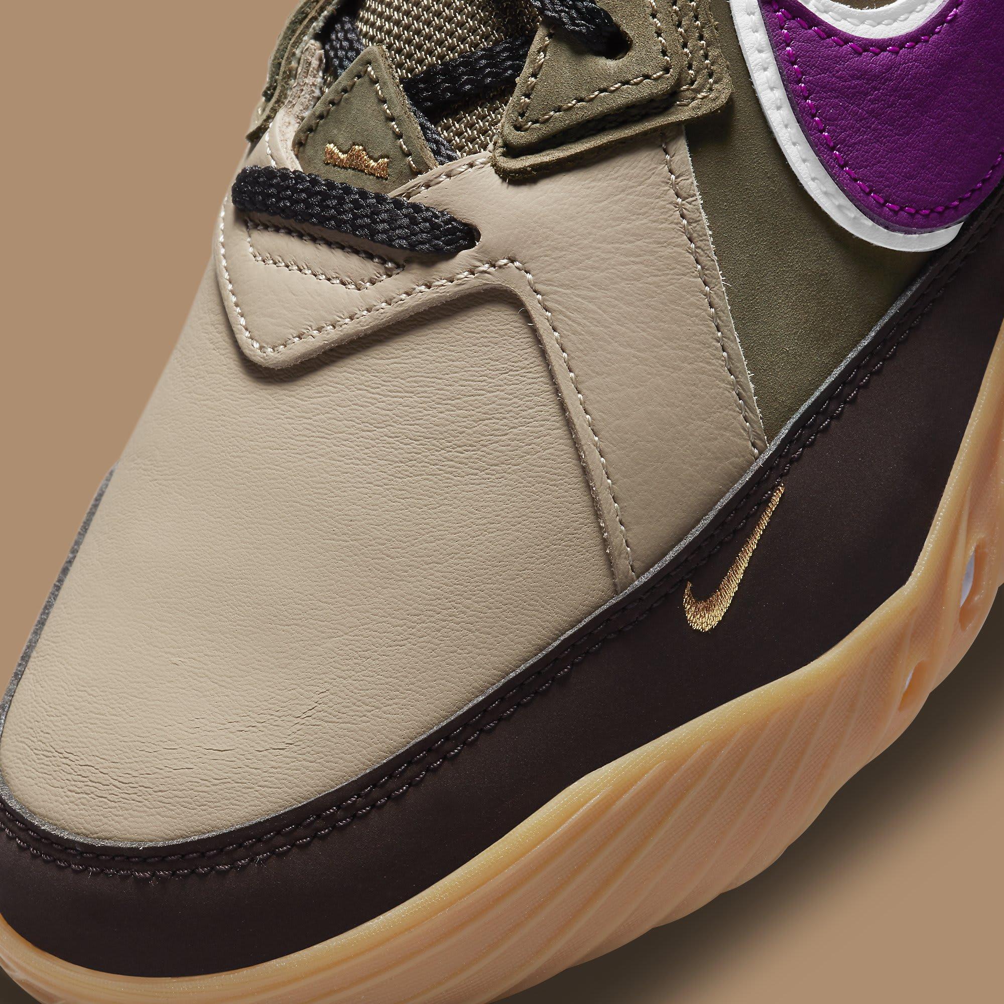 Atmos x Nike LeBron 18 Low 'Viotech' CW5635-200 Toe