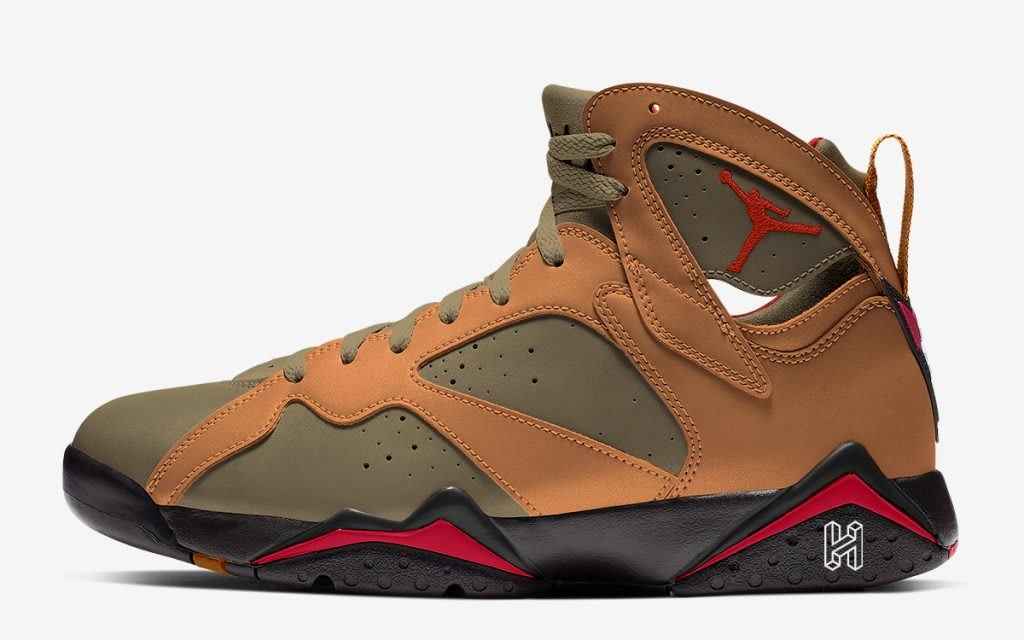 Air Jordan 7 Se Olive Flak Bronze Black Red Release Date