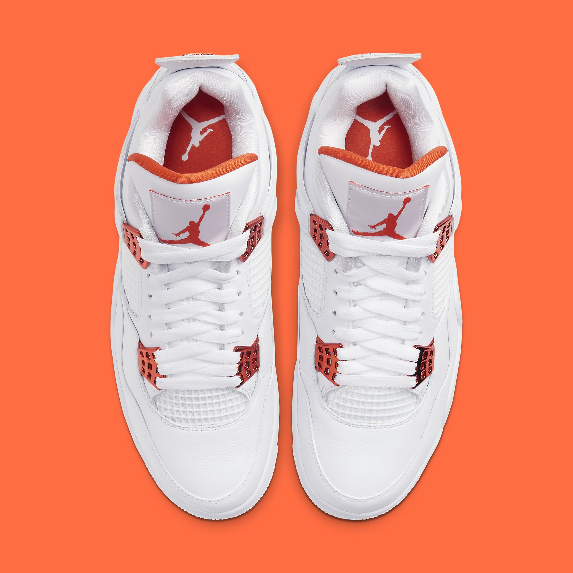 Air Jordan 4 Metallic Orange Release Date CT8527-118 Top